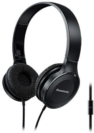 Наушники с микрофоном PANASONIC RP-HF100MGC, 3.5 мм, накладные, черный [rp-hf100mgck]