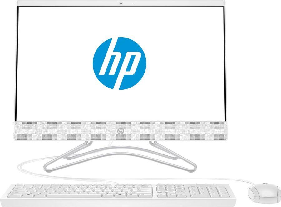 "Моноблок HP 22-c0019ur, 21.5"", Intel Core i3 8130U, 4Гб, 1000Гб, NVIDIA GeForce GT MX110 - 2048 Мб, DVD-RW, Free DOS 2.0, белый [4gs30ea]"