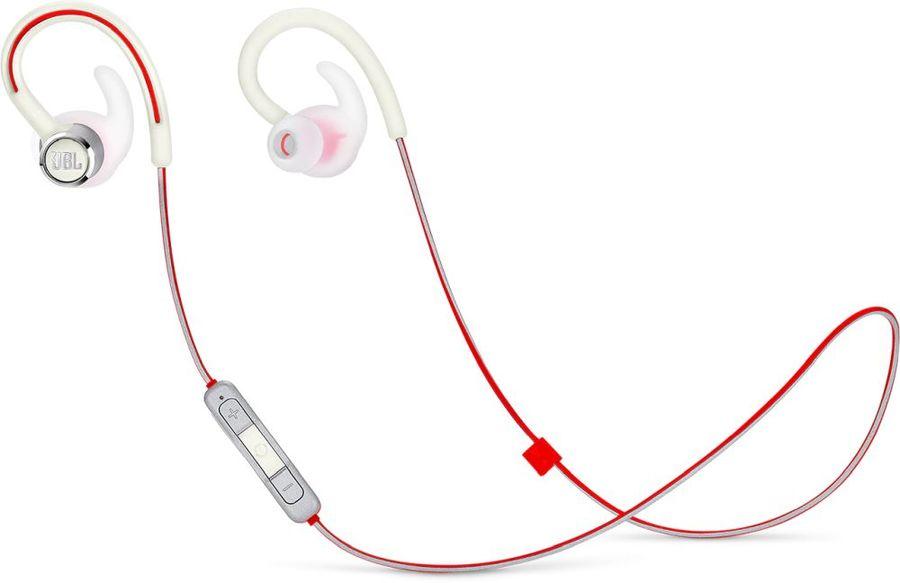 Наушники с микрофоном JBL Reflect Contour 2, Bluetooth, вкладыши, белый [jblrefcontour2wht]