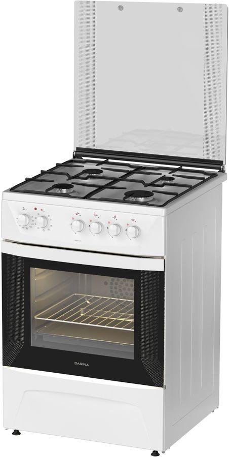 Газовая плита DARINA 1D KM 141 311 W,  электрическая духовка,  белый [000053592]