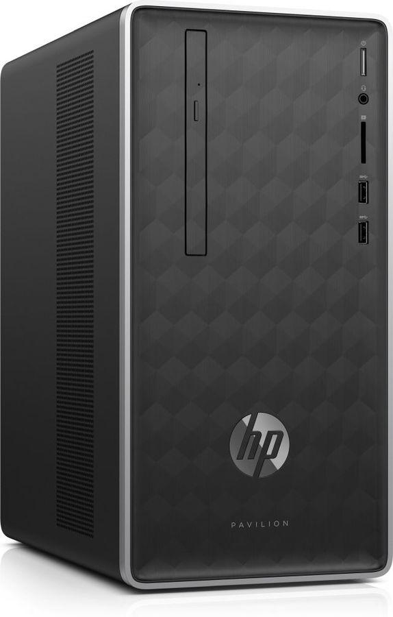 Компьютер  HP Pavilion 590-p0012ur,  AMD  Ryzen 3  2200G,  DDR4 8Гб, 1000Гб,  AMD Radeon RX 580 - 8192 Мб,  DVD-RW,  CR,  Free DOS 2.0,  темно-серый [4jv28ea]