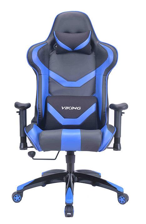 Кресло игровое БЮРОКРАТ CH-772N, на колесиках, искусственная кожа, черный/синий [ch-772n/bl+blue]