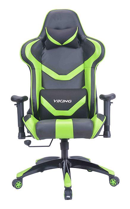 Кресло игровое БЮРОКРАТ CH-772N, на колесиках, искусственная кожа [ch-772n/bl+green]