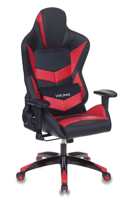 Кресло игровое БЮРОКРАТ CH-773N, на колесиках, искусственная кожа, черный/красный [ch-773n/bl+red]