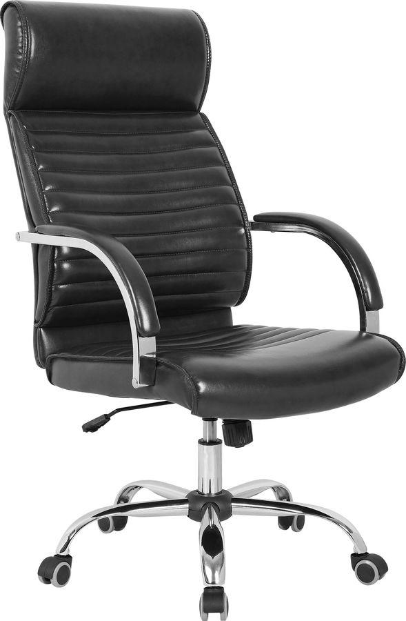 Кресло руководителя БЮРОКРАТ T-8010SL, на колесиках, искусственная кожа, черный [t-8010sl/black]