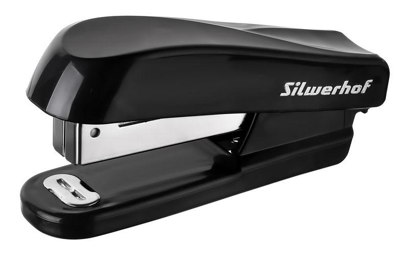 Степлер Silwerhof 401074-01 24/6 (20листов) черный