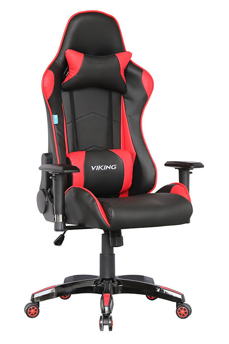 Кресло игровое БЮРОКРАТ CH-778, на колесиках, искусственная кожа, черный/красный [ch-778/bl+red]