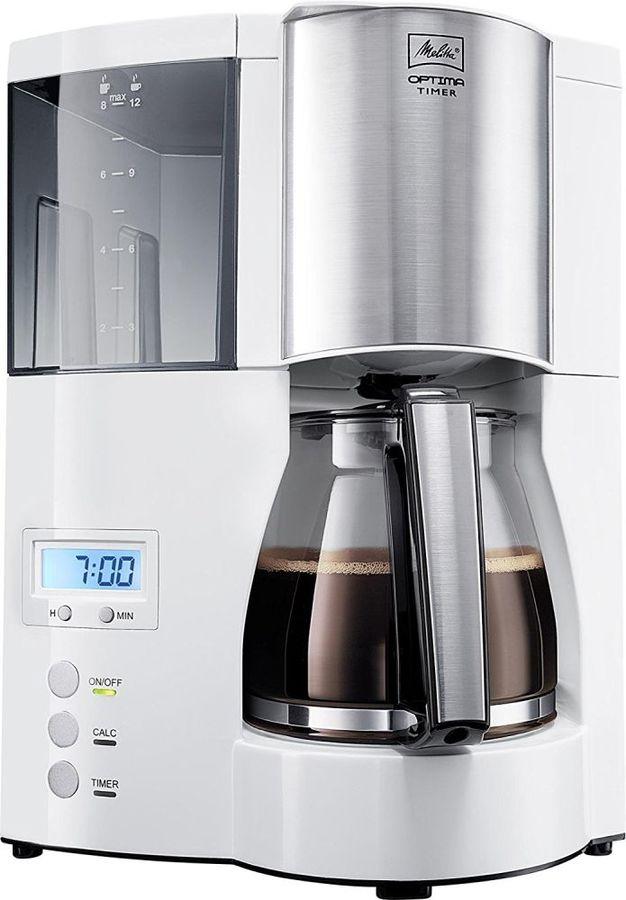 Кофеварка MELITTA Optima Timer,  капельная,  белый  [6613655]