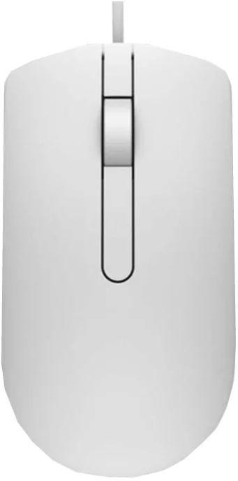 Мышь DELL MS116, оптическая, проводная, USB, белый [570-aaip]