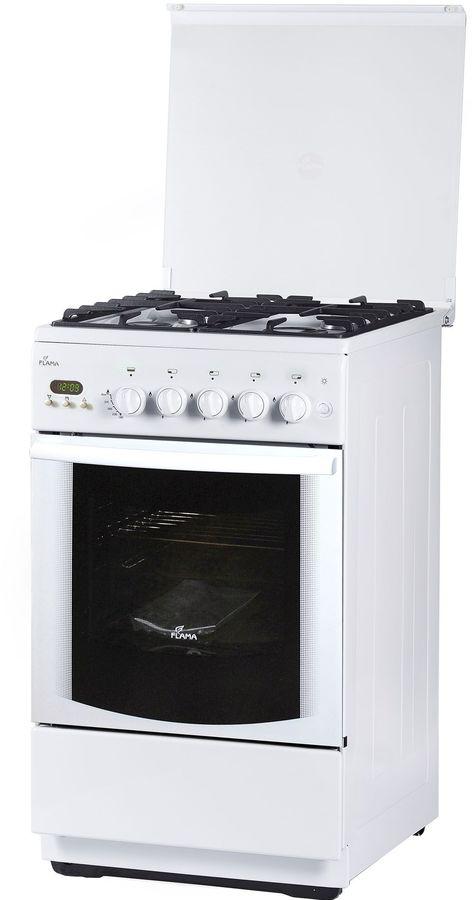 Газовая плита FLAMA BG 2422 W,  газовая духовка,  белый