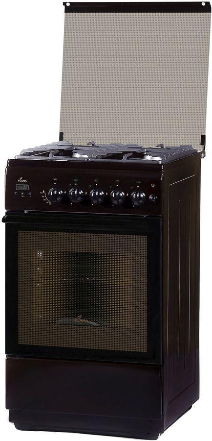 Газовая плита FLAMA BG 2422 B,  газовая духовка,  коричневый