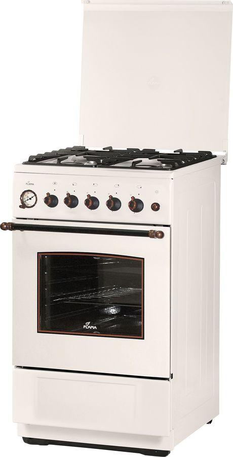 Газовая плита FLAMA BG 2421 W1,  газовая духовка,  бежевый
