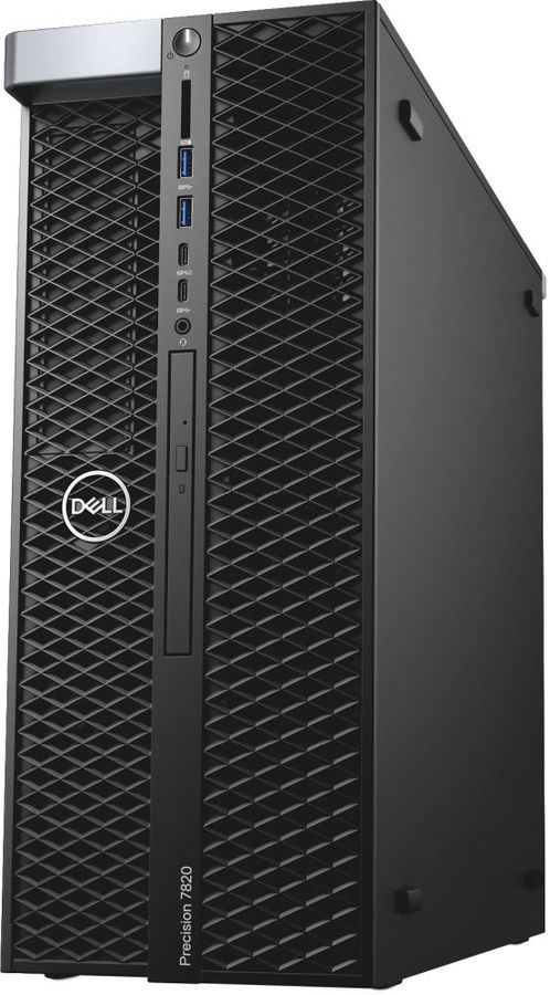 Рабочая станция  DELL Precision T7820,  Intel  Xeon  4110,  DDR4 32Гб, 2Тб,  256Гб(SSD),  DVD-RW,  Windows 7 Professional,  черный [7820-0748]