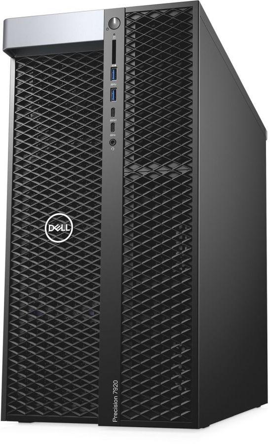 Рабочая станция  DELL Precision T7920,  Intel  Xeon  4110,  DDR4 32Гб, 2Тб,  256Гб(SSD),  DVD-RW,  Windows 7 Professional,  черный [7920-0786]