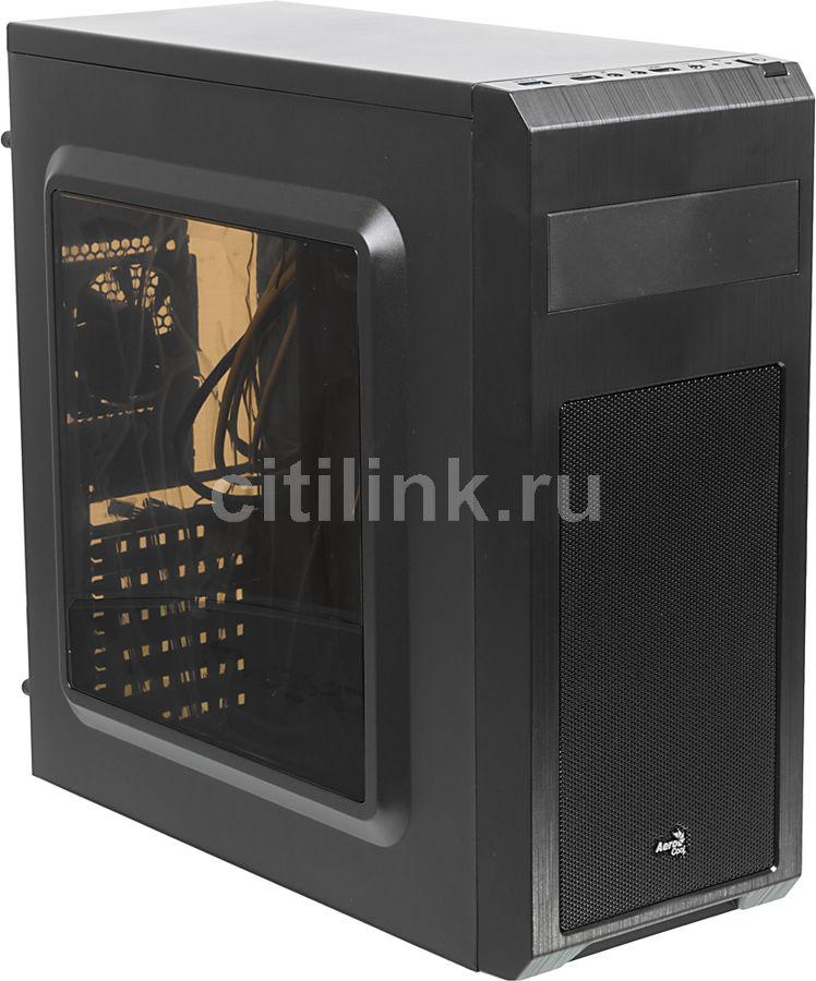 Корпус ATX AEROCOOL SI-5101 Advance, Midi-Tower, без БП,  черный