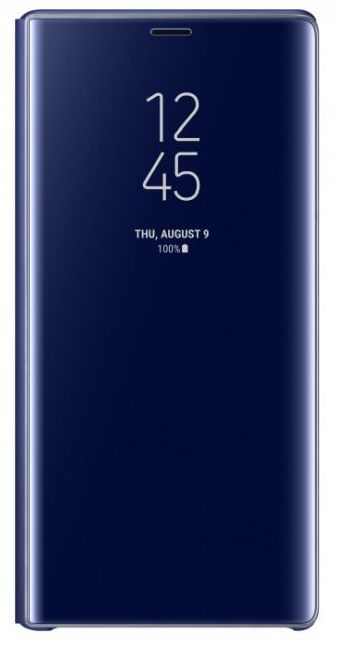 Чехол (флип-кейс) SAMSUNG Clear View Standing Cover, для Samsung Galaxy Note 9, синий [ef-zn960clegru]