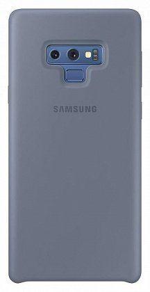 Чехол (клип-кейс) SAMSUNG Silicone Cover, для Samsung Galaxy Note 9, синий [ef-pn960tlegru]