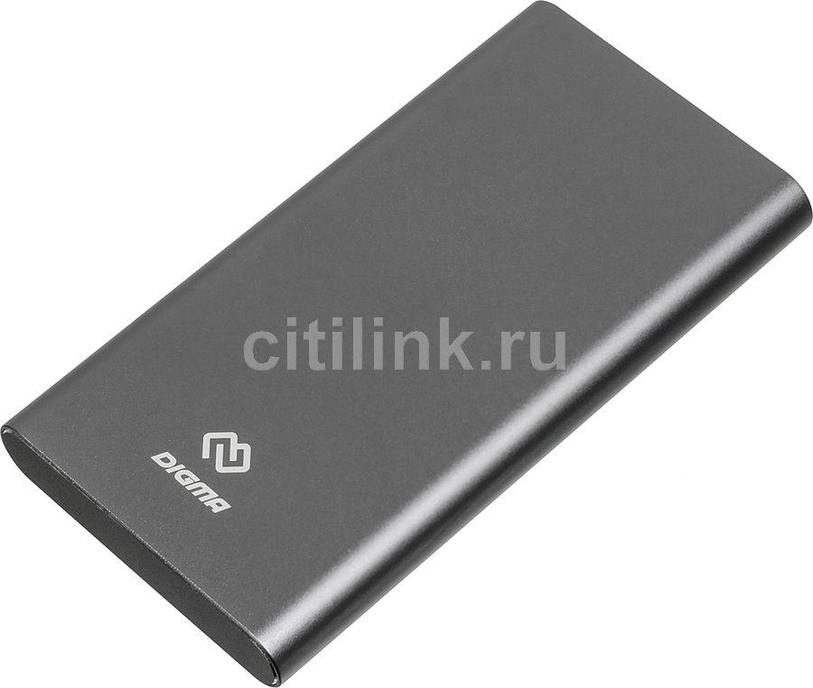 Внешний аккумулятор (Power Bank) DIGMA DG-ME-10000,  10000мAч,  темно-серый