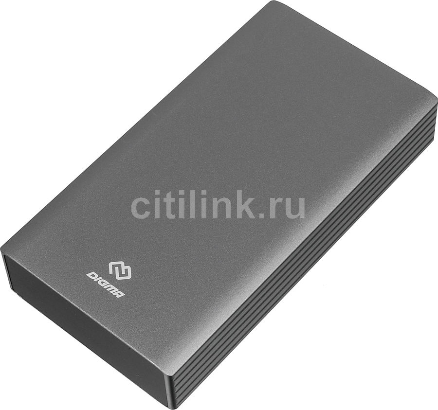 Внешний аккумулятор (Power Bank) DIGMA DG-PD-30000-SLV QC 3.0,  30000мAч,  серебристый