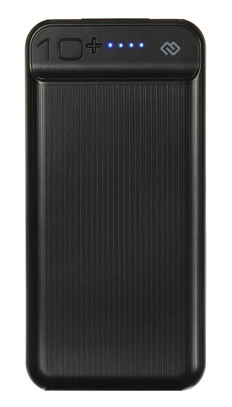 Внешний аккумулятор (Power Bank) DIGMA DG-10000-3U-BK,  10000мAч,  черный