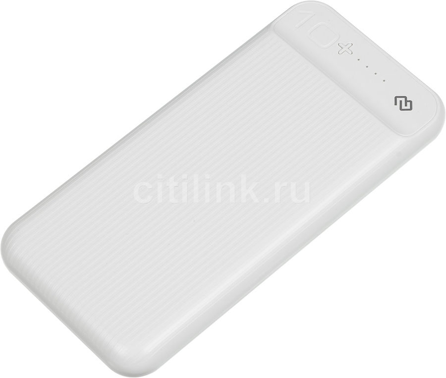 Внешний аккумулятор (Power Bank) DIGMA DG-10000-3U-WT,  10000мAч,  белый