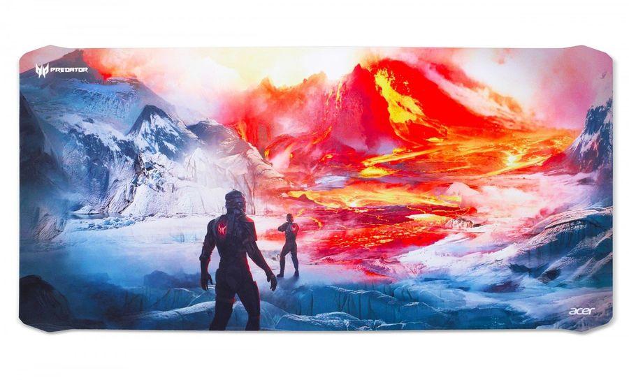 Коврик для мыши ACER Predator Magma Battle,  черный/красный [np.msp11.00c]