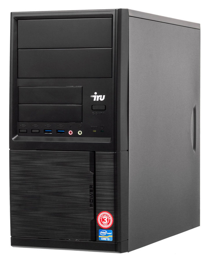 Компьютер  IRU Office 313,  Intel  Core i3  7100,  DDR4 4Гб, 120Гб(SSD),  Intel HD Graphics 630,  Windows 10 Home,  черный [1076962]