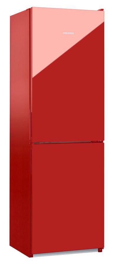 Холодильник NORD NRB 119 842,  двухкамерный, красное стекло [00000246087]