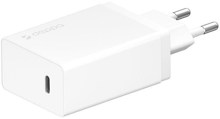 Сетевое зарядное устройство DEPPA Power Delivery,  USB type-C,  3A,  белый