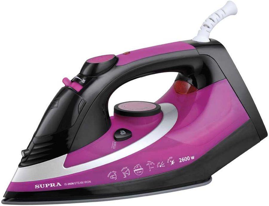 Утюг SUPRA IS-2606,  2600Вт,  фиолетовый/ черный [11438]