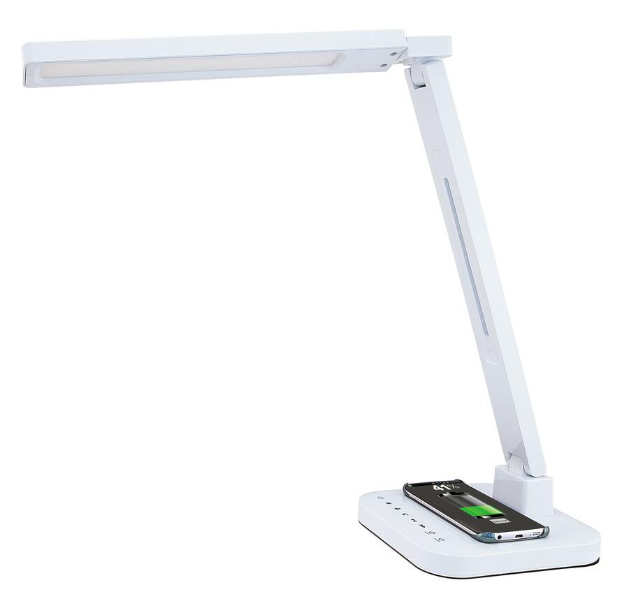 Светильник настольный LUCIA Smart Qi на подставке,  15Вт,  белый [l900-w]