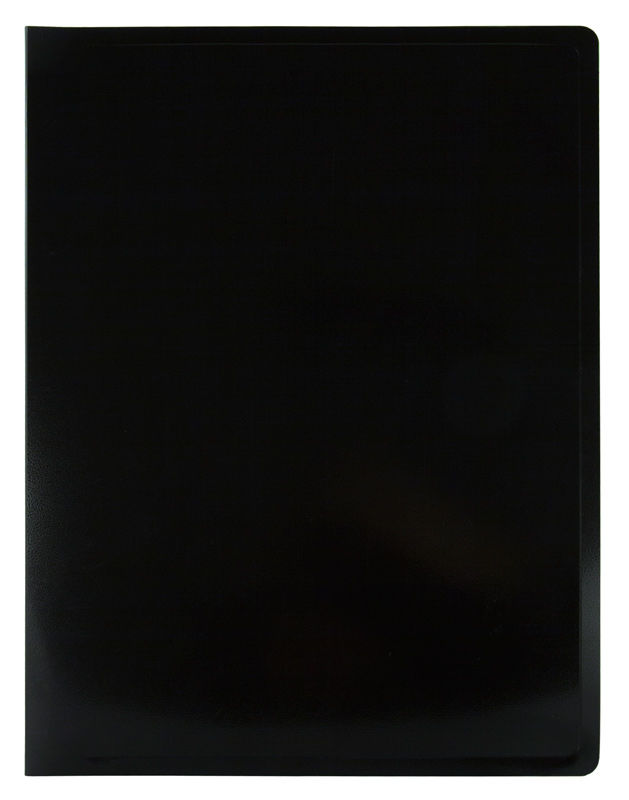 Папка с 20 прозр.вклад. Бюрократ Black&White BWBPV20BLCK A4 пластик 0.8мм черный/белый
