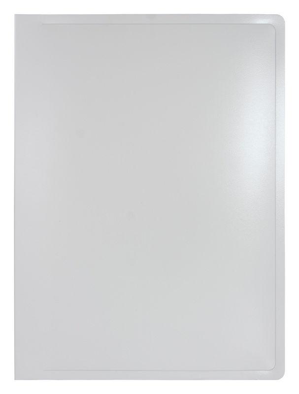 Папка с 20 прозр.вклад. Бюрократ Black&White BWBPV20WT A4 пластик 0.8мм белый/черный