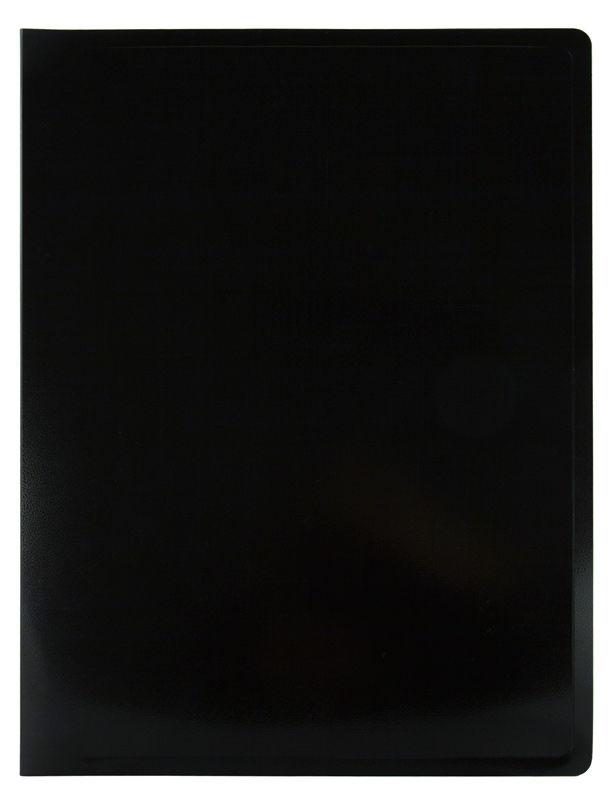 Папка с 40 прозр.вклад. Бюрократ Black&White BWBPV40 A4 пластик 0.8мм ассорти