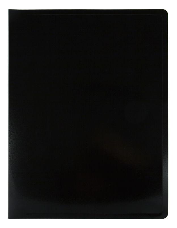 Папка с 40 прозр.вклад. Бюрократ Black&White BWBPV40BLCK A4 пластик 0.8мм черный/белый