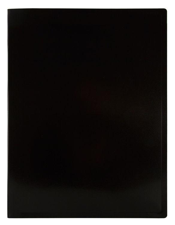 Папка с метал.зажим Бюрократ Black&White BWPZ08CBLCK A4 пластик 0.8мм черный/белый