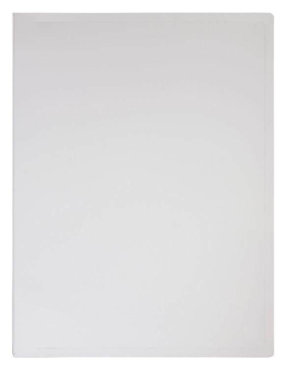 Папка с метал.зажим Бюрократ Black&White BWPZ08CWT A4 пластик 0.8мм белый/черный