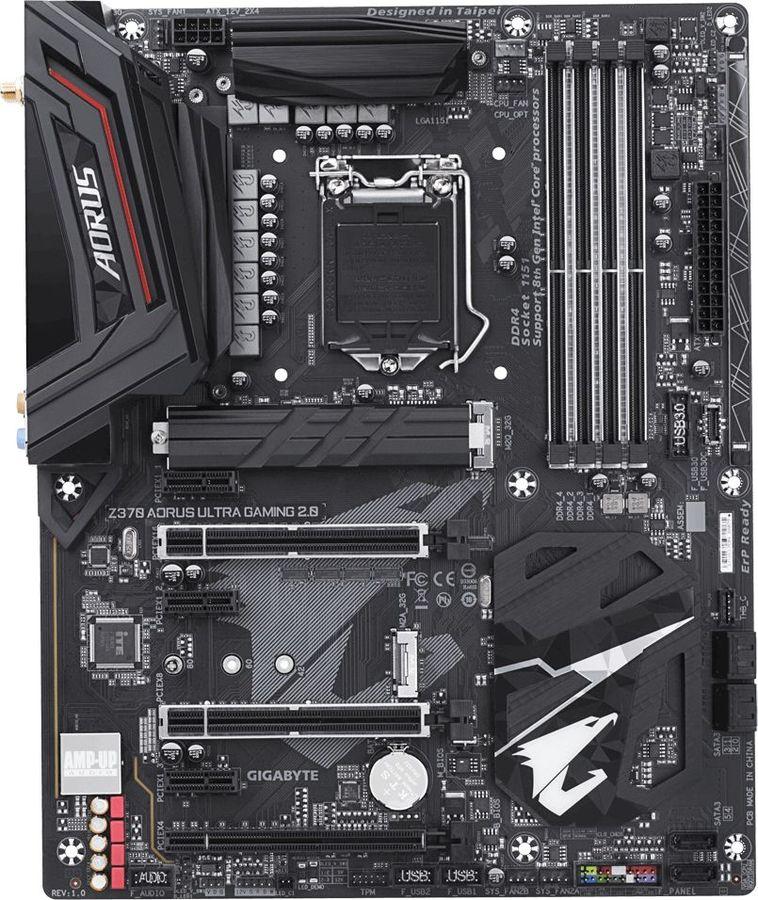 Материнская плата GIGABYTE Z370 AORUS ULTRA GAMING 2.0, LGA 1151v2, Intel Z370, ATX, Ret