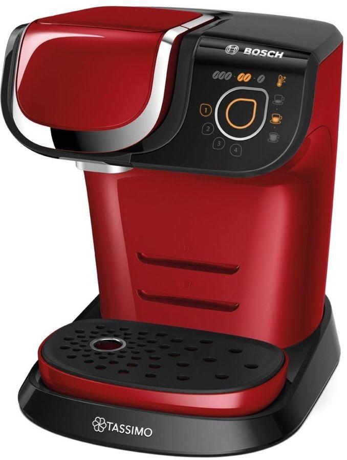 Капсульная кофеварка BOSCH Tassimo TAS6003, 1500Вт, цвет: красный
