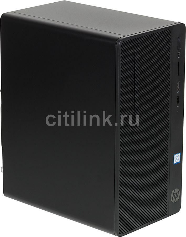 Компьютер  HP 290 G2,  Intel  Core i3  8100,  DDR4 4Гб, 500Гб,  Intel UHD Graphics 630,  DVD-RW,  CR,  Free DOS,  черный [3zd16ea]