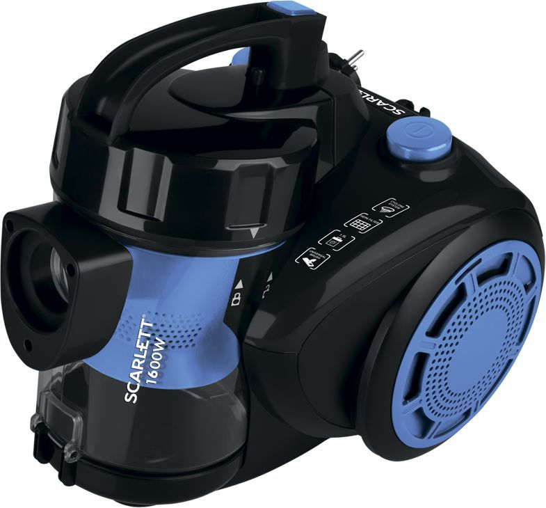 Пылесос SCARLETT SC-VC80C93, 1600Вт, синий/черный