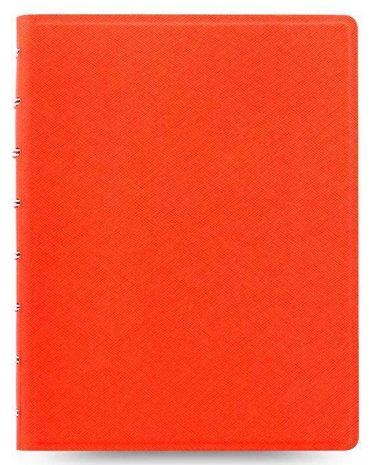 Тетрадь Filofax SAFFIANO A5 PU 56л линейка съемные листы спираль двойная оранжевый