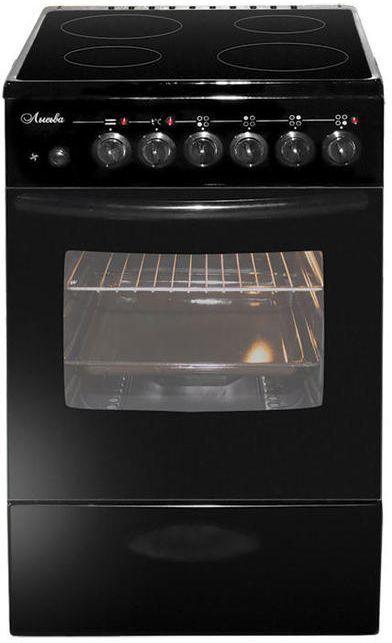 Электрическая плита ЛЫСЬВА ЭПС 404 МС,  стеклокерамика,  черный