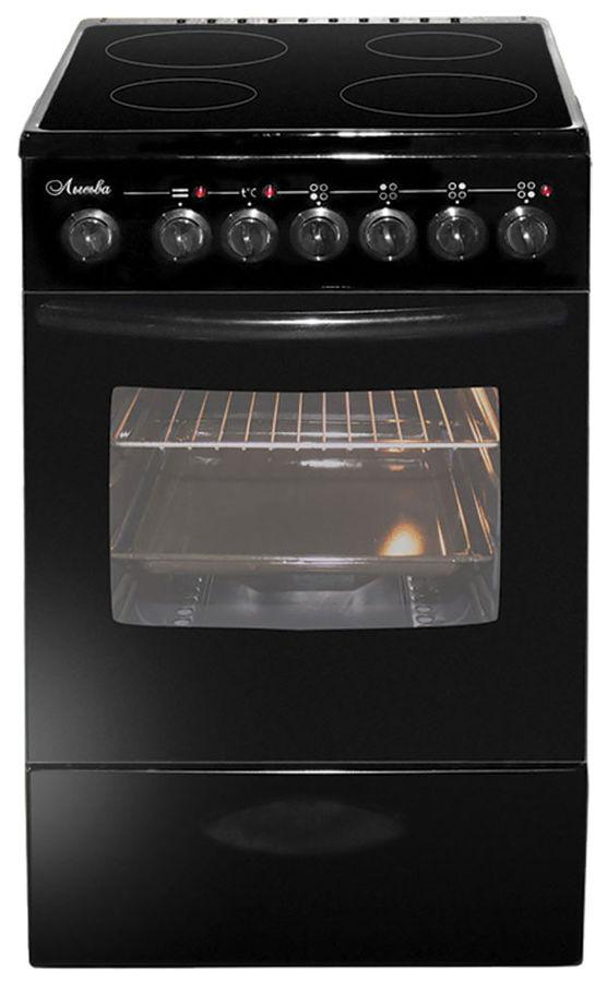 Электрическая плита ЛЫСЬВА ЭПС 43р1 МС,  пирокерамика,  черный