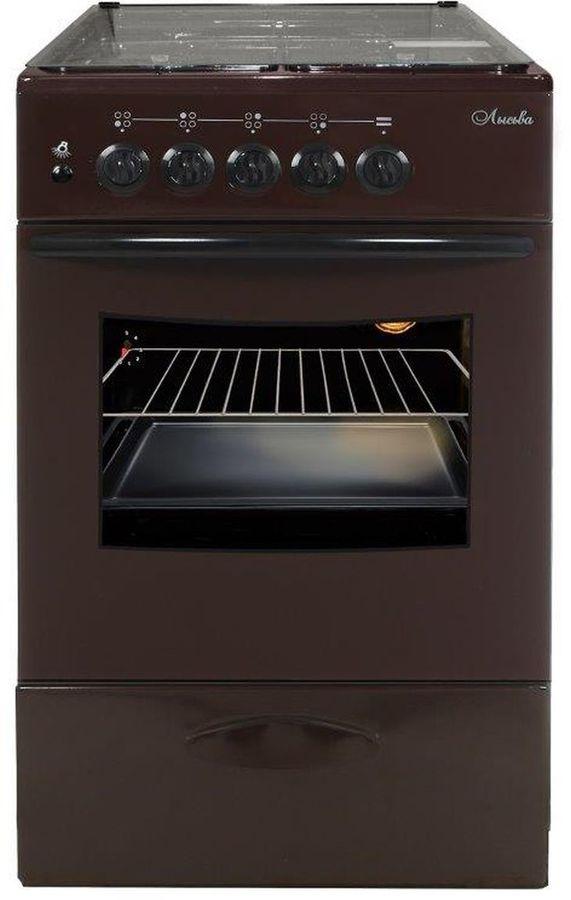 Газовая плита ЛЫСЬВА ГП 400 МС-2у,  газовая духовка,  коричневый