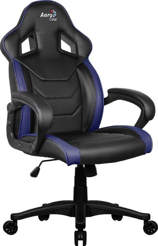 Кресло игровое AEROCOOL AC60C AIR-BB, черный/синий