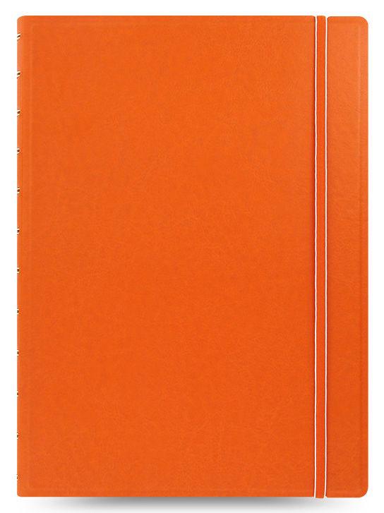 Тетрадь Filofax CLASSIC BRIGHT A4 PU 56л линейка съемные листы спираль двойная оранжевый