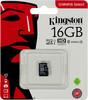 Карта памяти microSDHC UHS-I U1 KINGSTON 16 ГБ, 80 МБ/с, Class 10, SDCS/16GBSP,  1 шт. вид 1