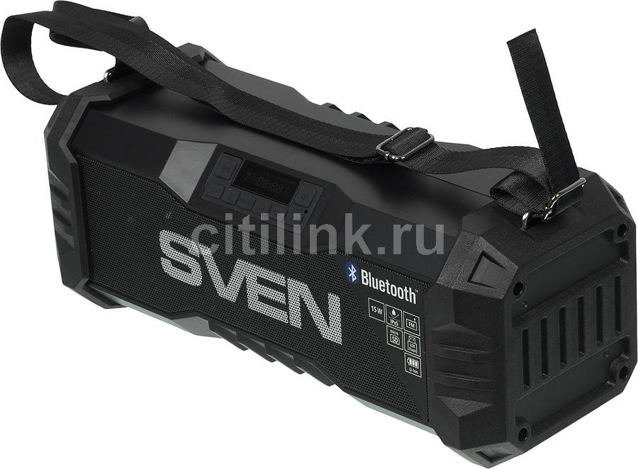 Портативная колонка SVEN PS-430,  15Вт, черный