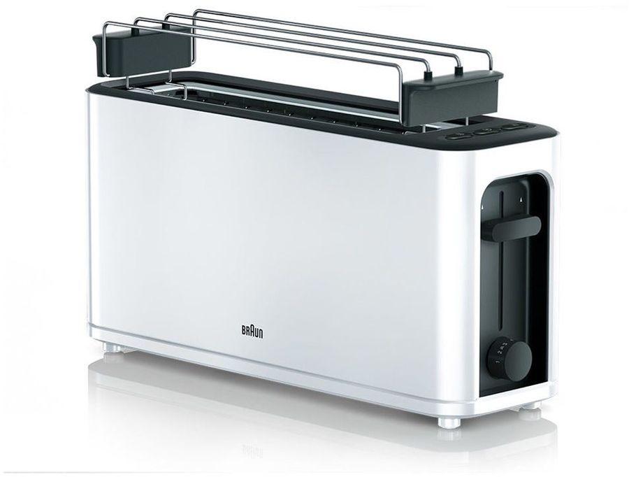 Тостер BRAUN HT3110,  белый/черный [0x23010011]